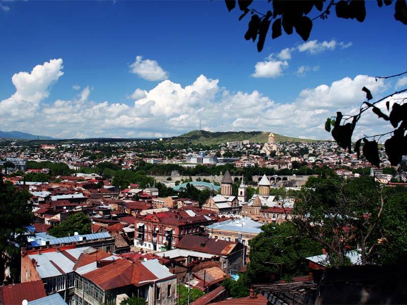 Тбилиси вид сверху