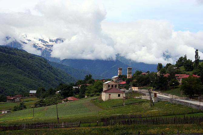 Сванская деревня