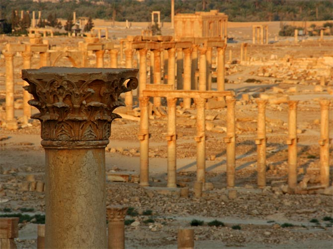 Пальмира, вид сверху