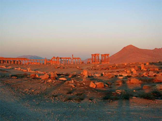 Пальмира на восходе