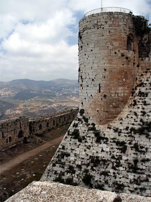 Башня в замке Крак де Шевалье