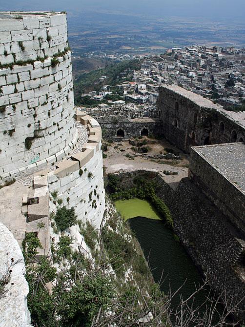 Крак де Шевалье - вид с крепостных стен