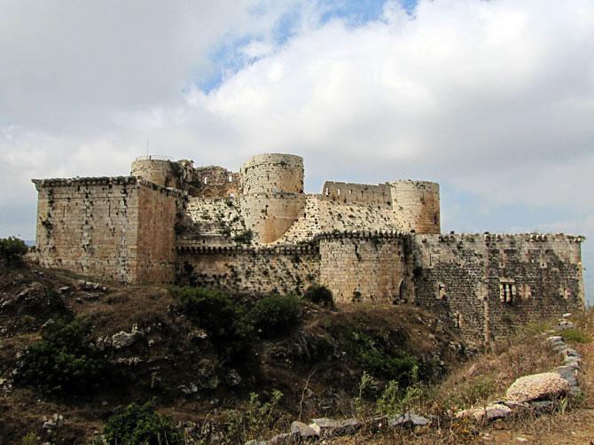 Вид замка Крак де Шевалье