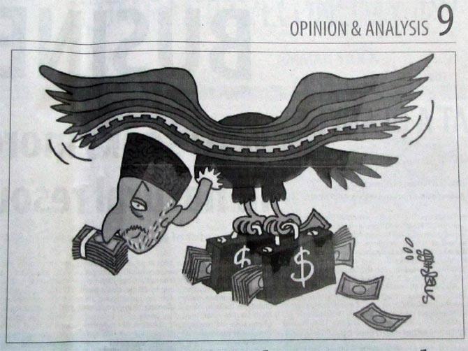 Карикатура в The Jordan Times