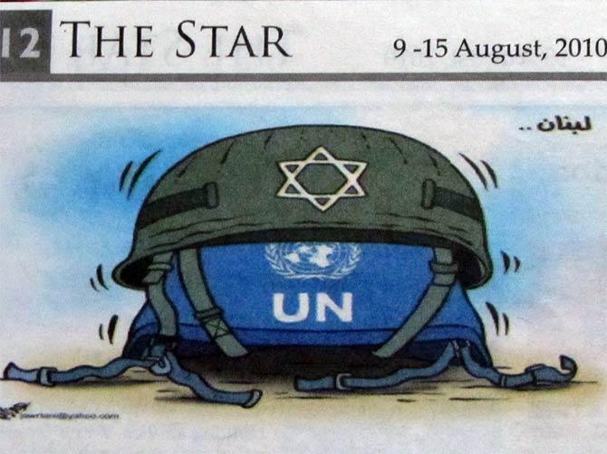 Карикатура в иорданской газете