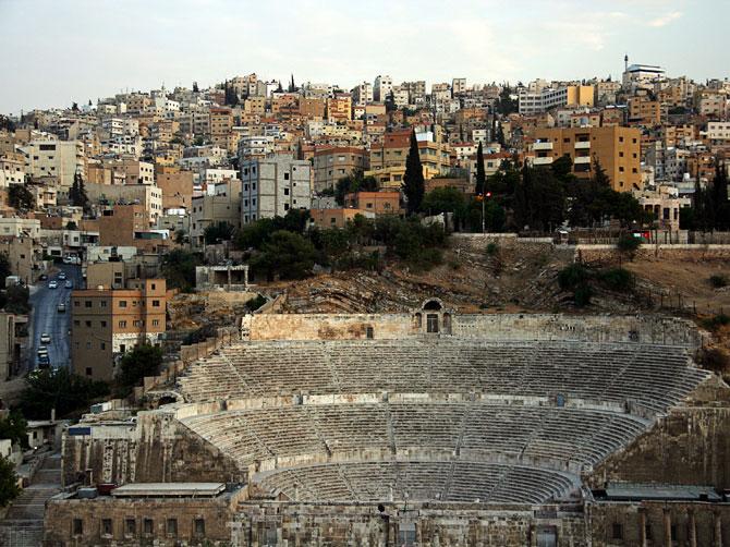Вид на амфитеатр в центре Аммана
