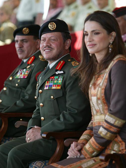 Король Абдалла II и королева Рания