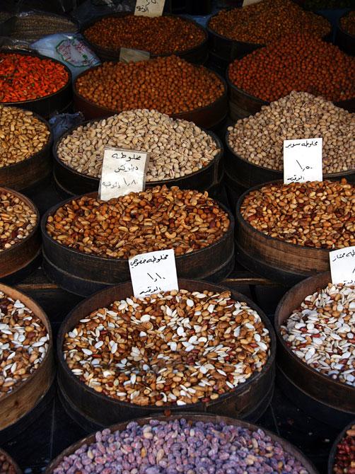 Прилавок с орехами, Амман, Иордания