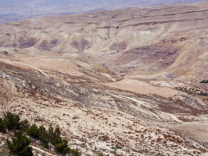 Вид с горы Нево, Иордания