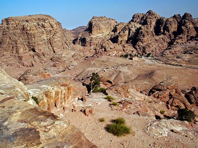 Скальный пейзаж, Петра, Иордания