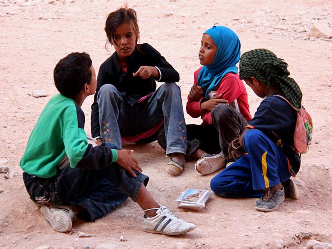 Бедуинские дети, Петра