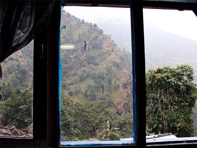 Джагат. Вид из окна
