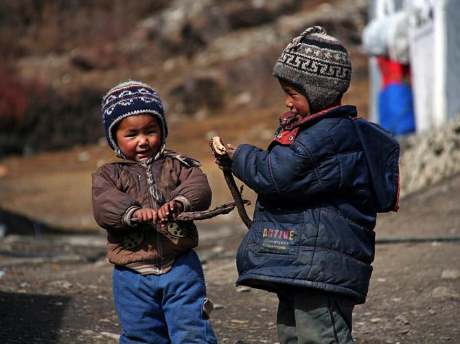 Непальские ребятишки, Аннапурна