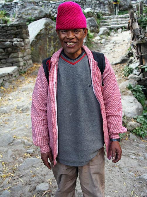 Улыбающийся непалец, трек вокруг Аннапурны