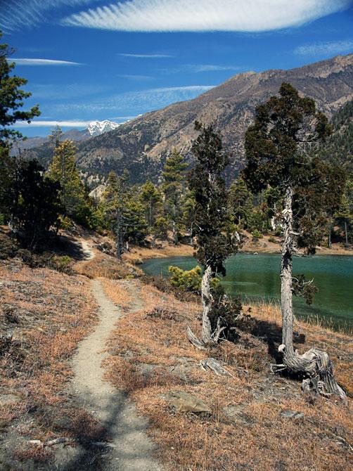 Горное озеро - трек вокруг Аннапурны, Непал, Гималаи