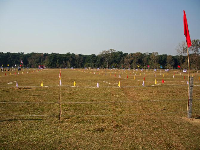 """Стадион, фестиваль """"Слоновьи бега"""", Читван, Непал"""