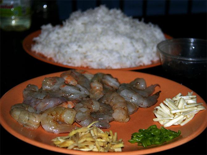 Рецепт жареного риса по-тайски - ингредиенты