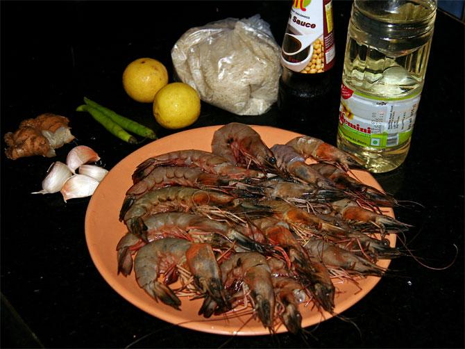 Рецепт жареного риса по-тайски - набор продуктов