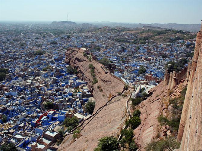 Вид на Джодпур из крепости