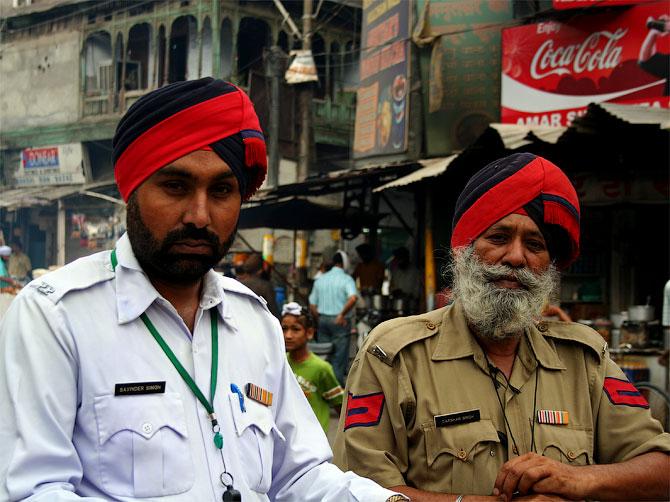 Сикхи-полицейские в Амритсаре