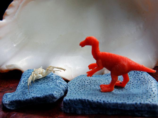 Краб и динозавр