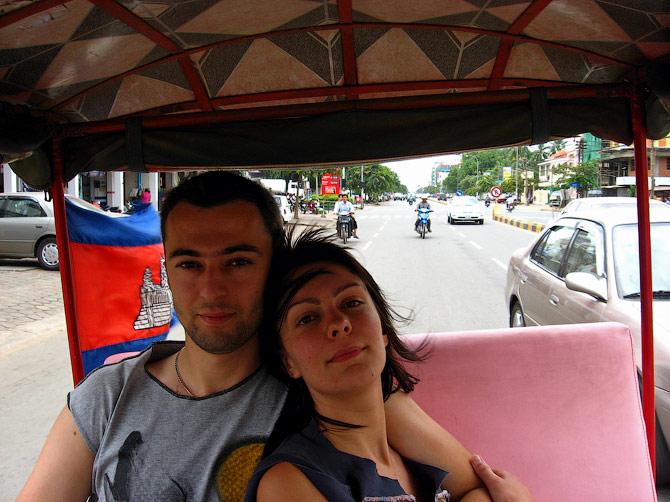 Тук-тук в Пномпене, Камбоджа