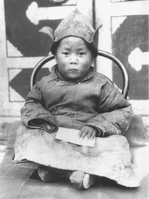 Далай-лама XIV Нгагванг Ловзанг Тэнцзин Гьямцхо во младенчестве