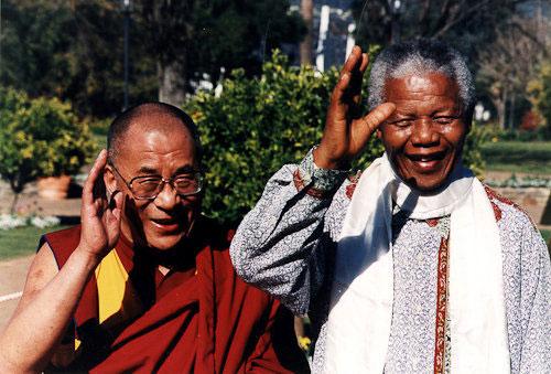 Далай-лама XIV и Нельсон Мандела