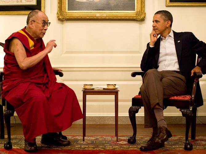 Далай-лама XIV и Барак Обама