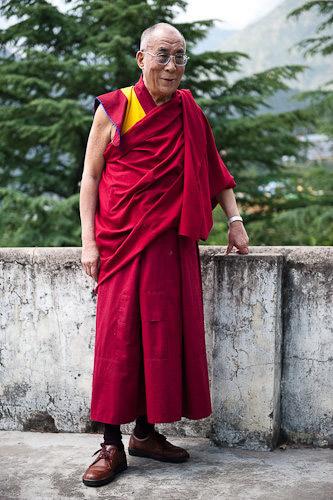 Портрет Далай-ламы XIV, Маклеод Гандж, Индия