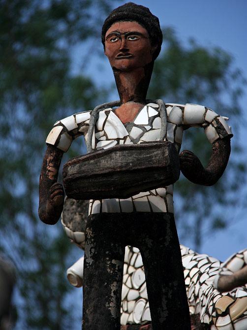 Статуя барабанщика в Парке камней, Чандигар, Индия