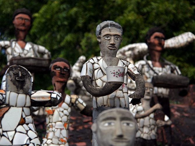 Статуи в Парке камней, Чандигар, Индия