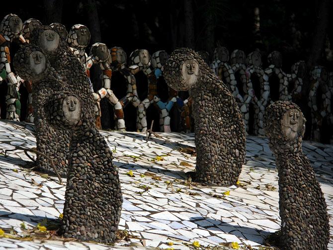 Фигуры в Парке камней, Чандигар, Индия