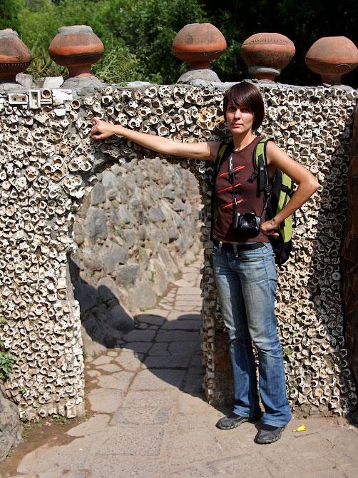 Дверь в Парке камней, Чандигар, Индия