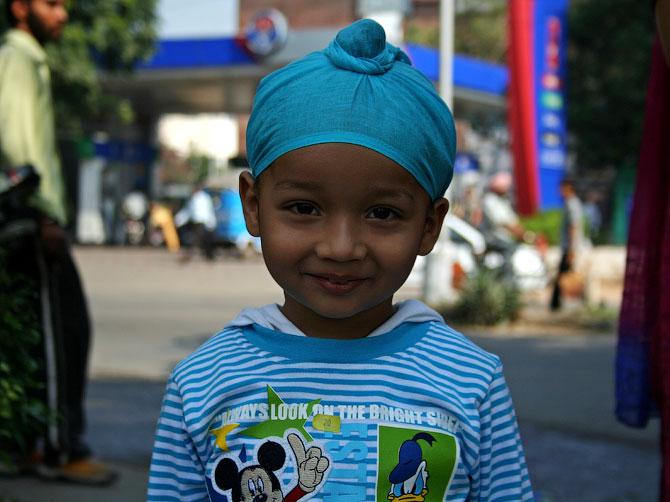 Маленький сикх, Чандигар, Индия