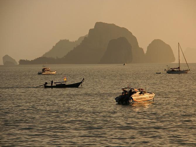 Закат в Ао Нанге, Краби, Таиланд