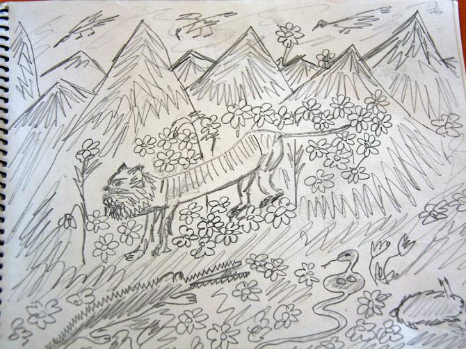 Рисунок для Иры, Гоа