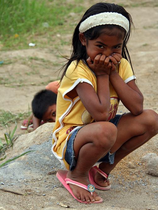 Индонезийская девочка, Такенгон, Суматра, Индонезия