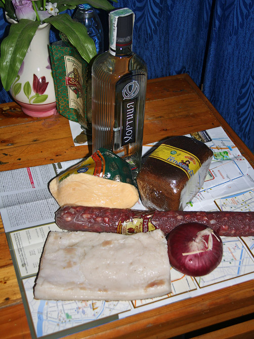Хортица, сало, колбаса