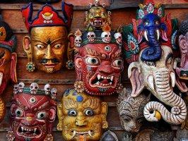 Буддистские и индуистские маски