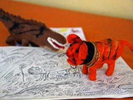 Тигр и крокодил