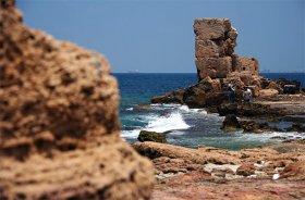 Остатки финикийской крепости на острове Арвад
