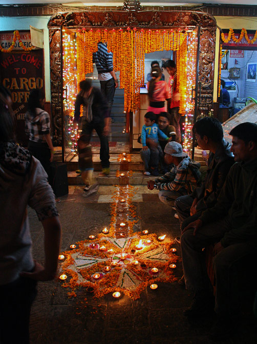 Огни праздника Дивали, Катманду, Непал