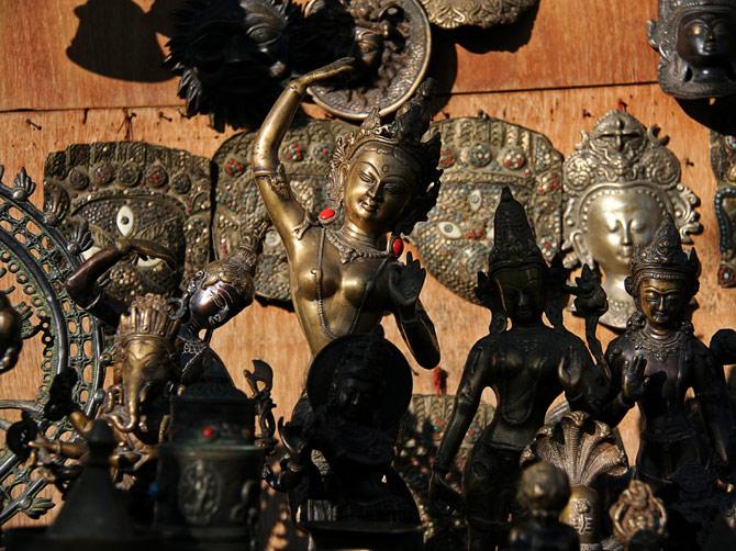 Бронзовая апсара, Катманду, Непал