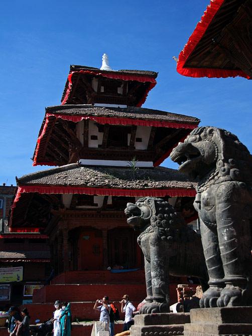 Храм на площади Дурбар, Катманду, Непал