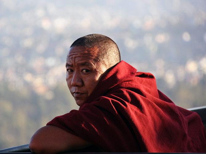 Буддистский монах, Катманду, Непал