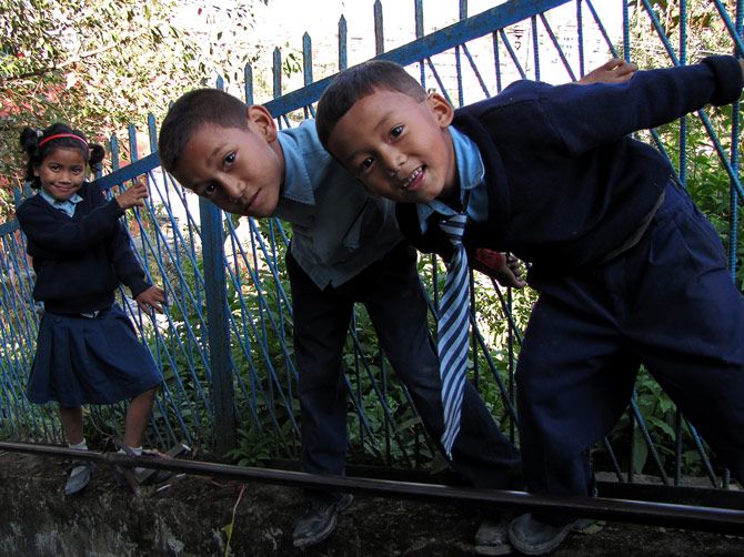 Непальские детишки, Катманду