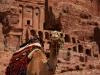 Верблюд на фоне гробниц в Петре